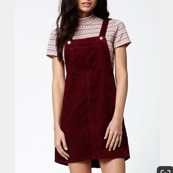 b374c4e79b6 HOST PICK ✨ Burgundy Corduroy Overall Dress